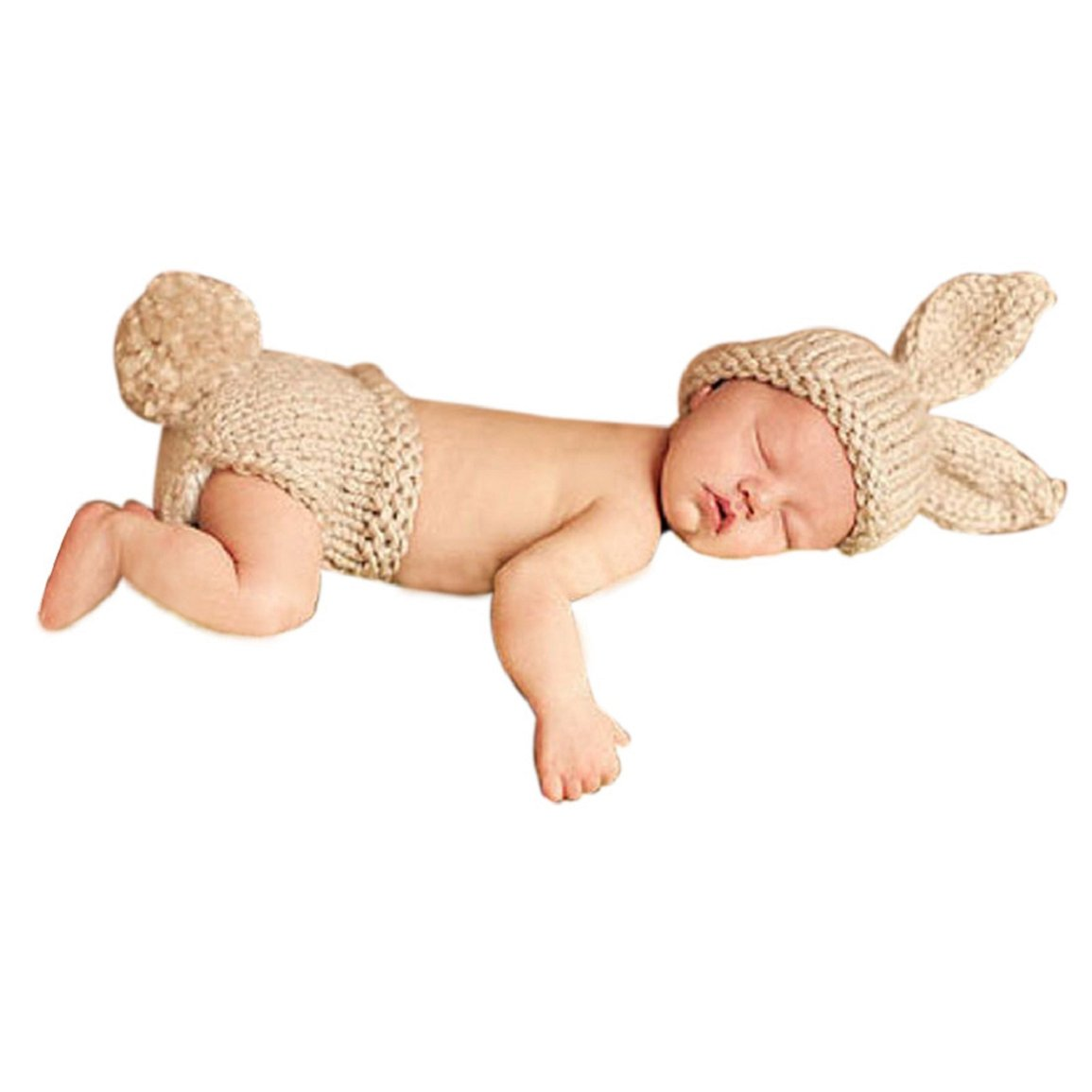 Changeshopping Newborn Baby Outfit Infant Crochet Knitted Cap Costume Photography Prop (D) Changeshopping 545