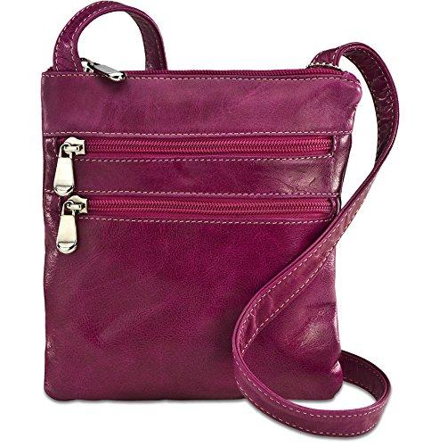 david-king-co-florentine-3-zip-cross-body-bag-3734-red-fuchsia-one-size