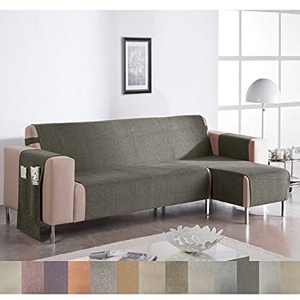 Jarrous Cubre Sofá Chaise Longue Modelo Wanda, Color Beige-7, Medida Brazo DERECHO – 240cm (Mirándolo de frente)