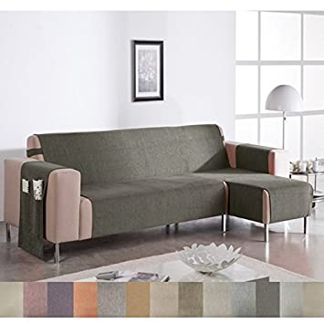 Jarrous Cubre Sofá Chaise Longue Modelo Wanda, Color Granate-24, Medida Brazo IZQUIERDO – 280cm (Mirándolo de frente)