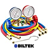 "HVAC R12 R22 R502 A/C Diagnostic Manifold Gauge Kit w/ 3 Color 60"" Charging Hose"