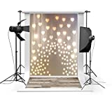 Laeacco-3x5ft-Vinyl-Thin-Photography-Sparkling-Hearts-and-Wood-Floor-Background-Kids-Photo-Backdrop1x15m-Studio-Props
