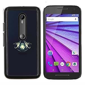 Asesinos Escudo- Metal de aluminio y de plástico duro Caja del teléfono - Negro - Motorola Moto G (3rd gen) / G3