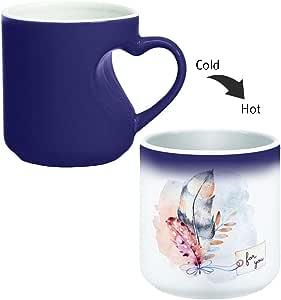 Magic Mug with inner heart handle For Coffee or tea By decalac, mugHM-BLU-03335
