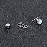 14G Opal Stone Dermal Anchor Tops and Base 316L