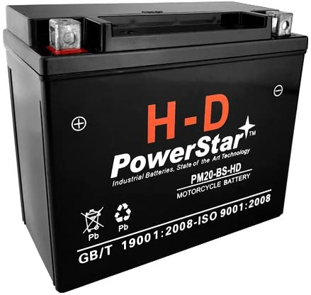 Power Star H-D YTX20-BS Motorcycle Battery