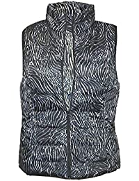 Women's - Animal Print Packable Puffer Vest Jacket