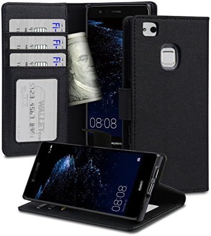 【Fi-St】 Huawei p10 lite ケース 手帳型 レザーケース カバー 薄型 耐衝撃 (P10 lite)