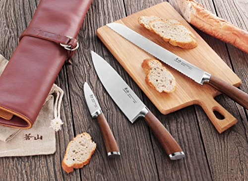 Cangshan H1 Series 59939 4 Piece Leather Roll Knife Set, Silver by Cangshan (Image #2)