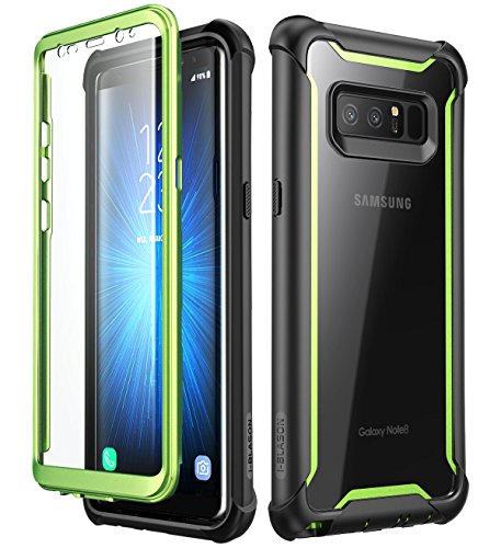 Samsung Galaxy Note 8 case,i-Blason [Ares Series] Full-body Rugged Clear Bumper Case with Built-in Screen Protector for Samsung Galaxy Note 8 2017 Release (Emerald)