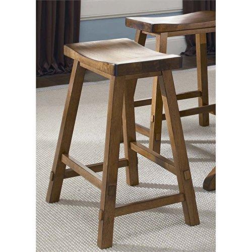 (OKSLO Creations ii 30 sawhorse bar stool in tobacco Model d3763)
