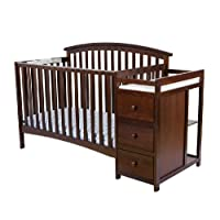 Dream On Me Niko 5-in-1 Convertible Crib with Changer, Espresso