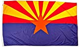 Annin Flagmakers Model 140280 Arizona State Flag Nylon SolarGuard NYL-Glo, 5×8 ft, 100% Made in USA to Official Design Specifications