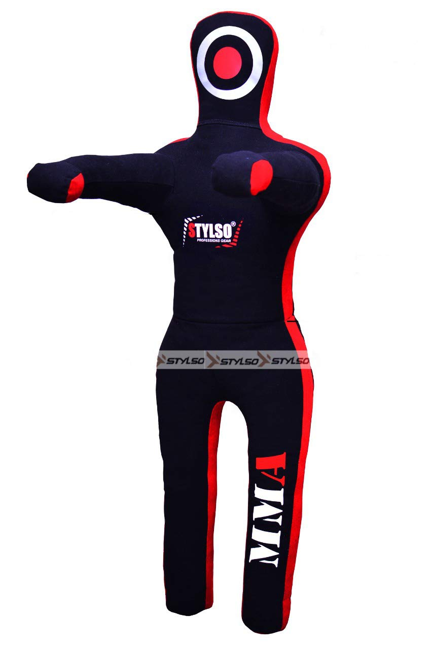 Stylso Wrestling Dummy Grappling Dummies - Brazilian Jiu Jitsu, Mixed Martial Arts, BJJ, MMA, Boxing, Judo Karate Training - Standing - 5ft/60 6ft/72 Black - Blue - Red - Yellow