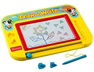 Buyus [Travel Size] Color Magnetic Drawing Board for Kids/Toddlers/Babies with 2 Stamps and 1 Pen-…