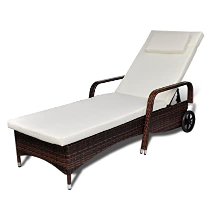 Amazon Com Festnight Outdoor Patio Chaise Lounge Chair Adjustable