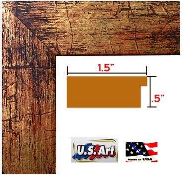 US Art 14x22 Custom made BRONZE PICTURE POSTER FRAME MDF 1.5 inch wide MOULDING ()