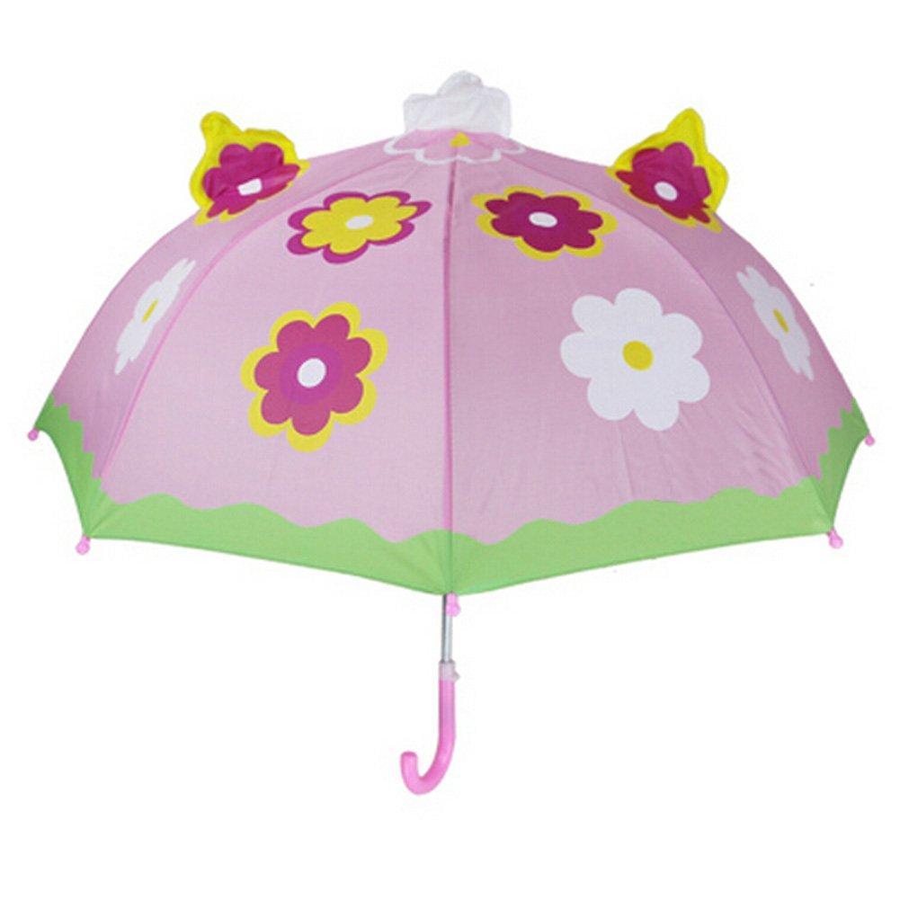 0-7ans Childrens Rainy Day Umbrella// Enfants Umbrella,Couleurs vives,une fleur