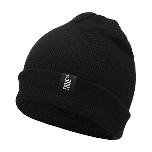 Letter True Casual Beanies for Men Women Fashion Knitted Winter Hat Solid Color Hip-hop