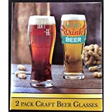 CRAFT BEER GLASSES 2 PACK