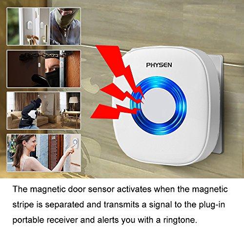 Wireless Door Window Alarm Chime Physen Door Open Entry
