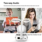 Tanke Wireless Surveillance IP Camera Nanny Cam Baby Monitor Provides Pan Tilt Motion Detect Two Way Audio Night Vision Support 2.4G WiFi