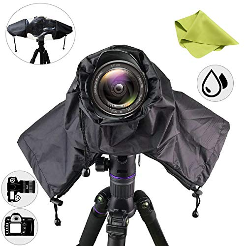 (Getfitsoo Professional Waterpoof Rain Cover for Canon Nikon DSLR Cameras - Protect from Rain Snow Dust Sand)
