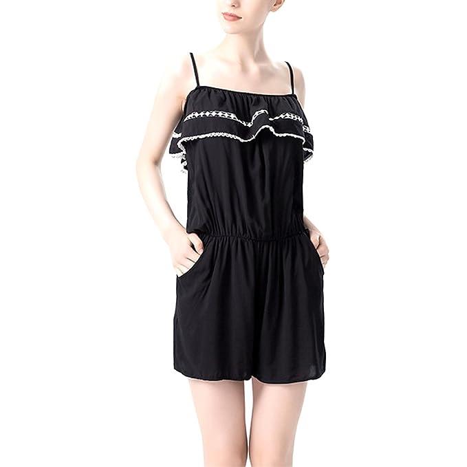 iBaste - Pijama - relaxed - Sin mangas - para mujer negro negro