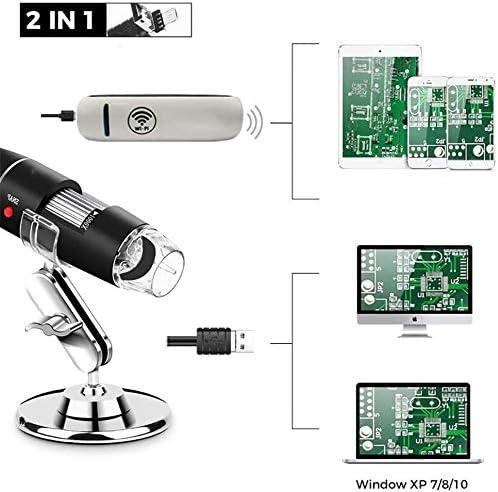 WiFi USB 2.0 Digital Microscope Qin 1000x Magnification Endoscope Size : 0.3MP