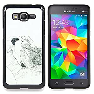 - Sleeping Dream Art Drawing Pencil Man Bed - - Snap-On Rugged Hard Cover Case Funny HouseFOR Samsung Galaxy Grand Prime G530H G5308