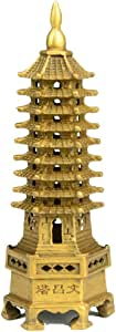 EASTCODE Tibet Buddhism Temple Brass Wenchang Tower chedi Stupa Pagoda Statue Decoration Metal Handicraft