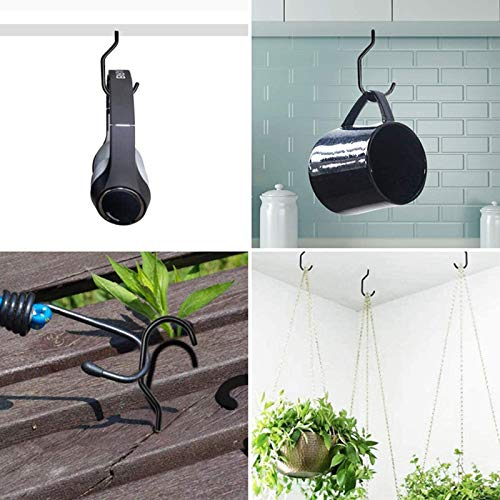 XeeDoo Bike Hooks,Heavy Duty Screw Utility Storage Hangers for Garage Ceiling and Wall Mount Vertical Bicycle Rack Holder Stand Space Saving Organizer Set (2 Pack)