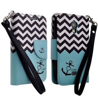 SAMSUNG GALAXY LIGHT T399 CASE, SAMSUNG GALAXY LIGHT T399 FLIP CASE - DELUXE PU LEATHER FOLIO WALLET CASE COVER FOR SAMSUNG GALAXY LIGHT T399 (METRO PCS / T-MOBILE) (TEAL ANCHOR WALLET) (Samsung Galaxy Light Phone Case compare prices)
