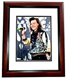 Harry Styles Signed - Autographed One Direction 1D Singer 11x14 inch Photo MAHOGANY CUSTOM FRAME - Guaranteed to pass or JSA - PSA/DNA Certified