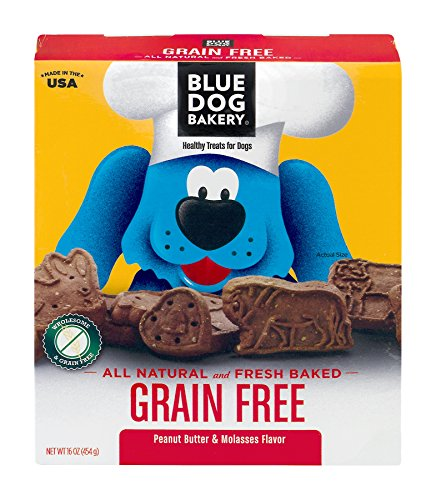 Blue Dog Bakery Grain-Free Dog Biscuits | All-Natural | Peanut Butter & Molasses | 16oz (Pack of 6)