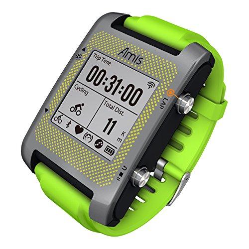 Bryton Amis S630H - Reloj GPS multideporte con sensor cardíaco Ant+, color verde: Amazon.es: Deportes y aire libre