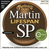 Martin MSP7700 SP Lifespan 92/8 Phosphor Bronze Acoustic String, Baritone Guitar