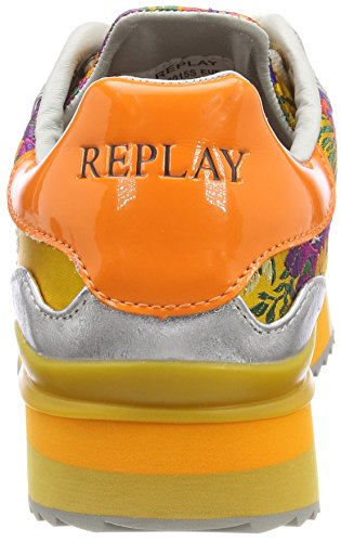 REPLAY Waste, Scarpe da Ginnastica Basse Donna Giallo (Yellow)