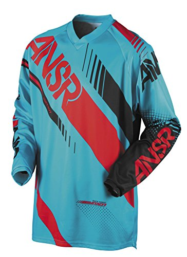 Cyan/Red Sz S Answer Racing Syncron Youth Jersey Motocross Jersey