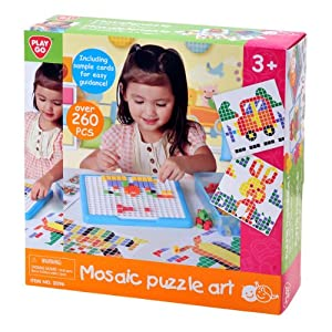 Amazon.com: PlayGo Mosaic Puzzle Art: Toys & Games