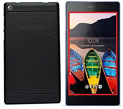 outlet store 4f239 092aa Efonebits(TM) Premium Dotted Black Rubberised Soft Back Case Skin Cover For  Lenovo Tab 3 730X Tablet (7 inch){NOT FOR Lenovo Tab3 7 Essential Tablet}