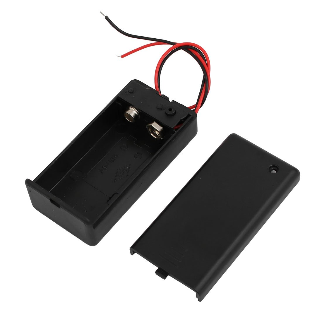 uxcell ON/Off Switch 2 Wires Covered Battery Holder Case for 9V Battery
