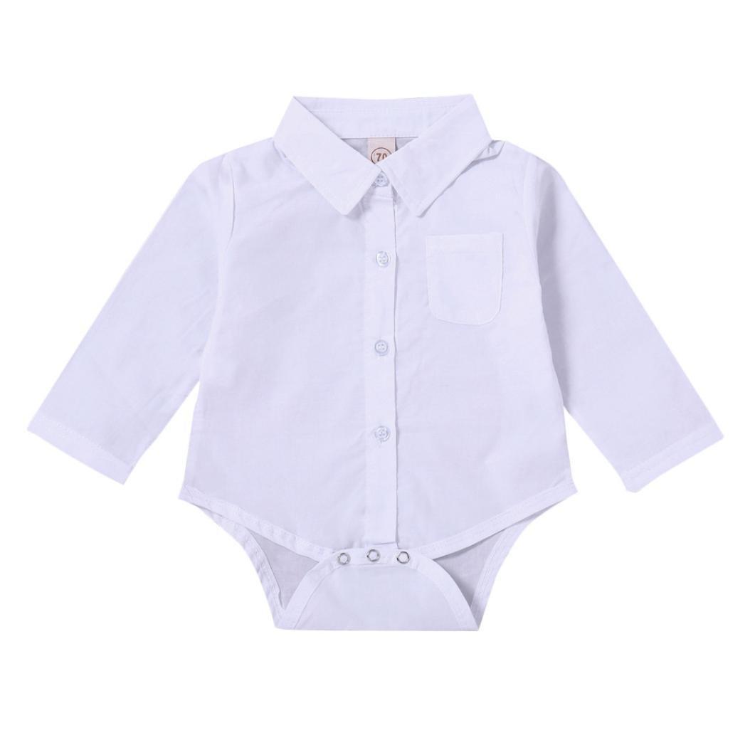 BYSTE Body Bambino Neonato Maniche lunghe Tinta unita pagliaccetto Camicia per bambini e ragazzi Maglietta la camicetta T-Shirt Tops