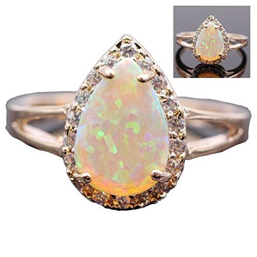 Engagement Gemstone Yellow Plated Jewelry