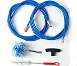 Cleaning kit for pellet stove - chimney sweeping kit - 6 metres - 2 tube brushes 80mm' Standard and Super Flex'