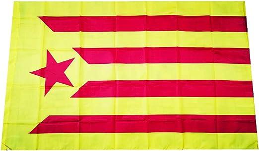 Bandera Catalunya Independentista Estelada Vermella Mediana 90*60CM: Amazon.es: Hogar