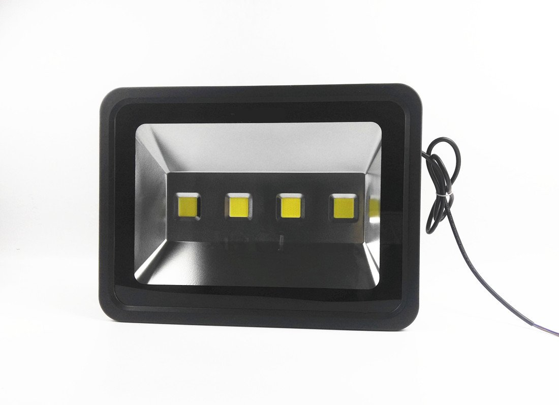 200W LED Flood Light Black IP65 Waterproof Outdoor Lighting 1000w Halogen Bulb Equivalent 20000lm 6000K Daylight White LED Safety Light Basketball Court Light AC110V-120V