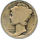 1916 D Mercury Dime Best Deals - 1916 D Mercury Dimes Dime AG-3 PCGS\CAC
