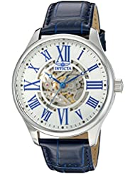 Invicta Mens Vintage Automatic Stainless Steel and Blue Leather Casual Watch (Model: 22567)