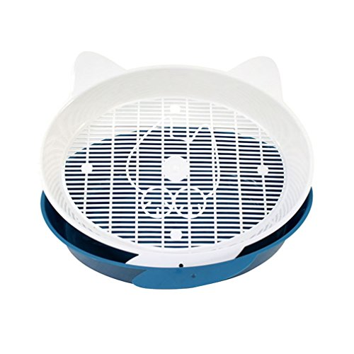 Sroute Sifting Cat Pan Litter Box with Frame Easy to Clean Odor Free Stain Resistant,Suitable for Small Cats and Small…